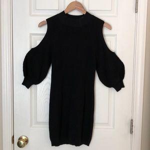 Black sweater mini dress. Small